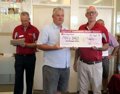 $1000 10th Birthday grant from Nightcliff Community Bank