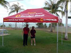 Nightcliff Bank Marquee All ready for School Swimming Sports