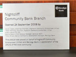 Plaque commemorating the Branch opening