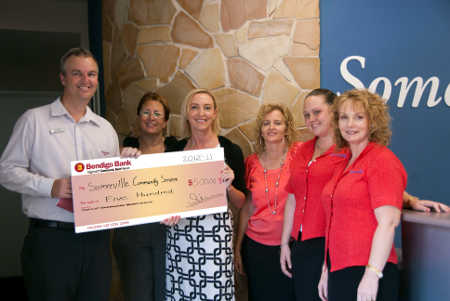 Presenting a donation To Sommerville Community Services