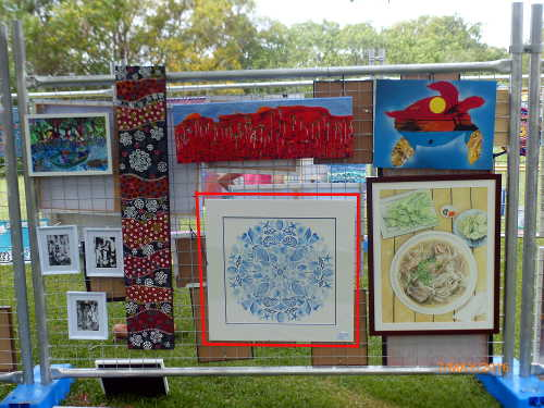 Art display at seabreeze festival