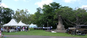 Commemoration of the first flight from England, Fannie Bay