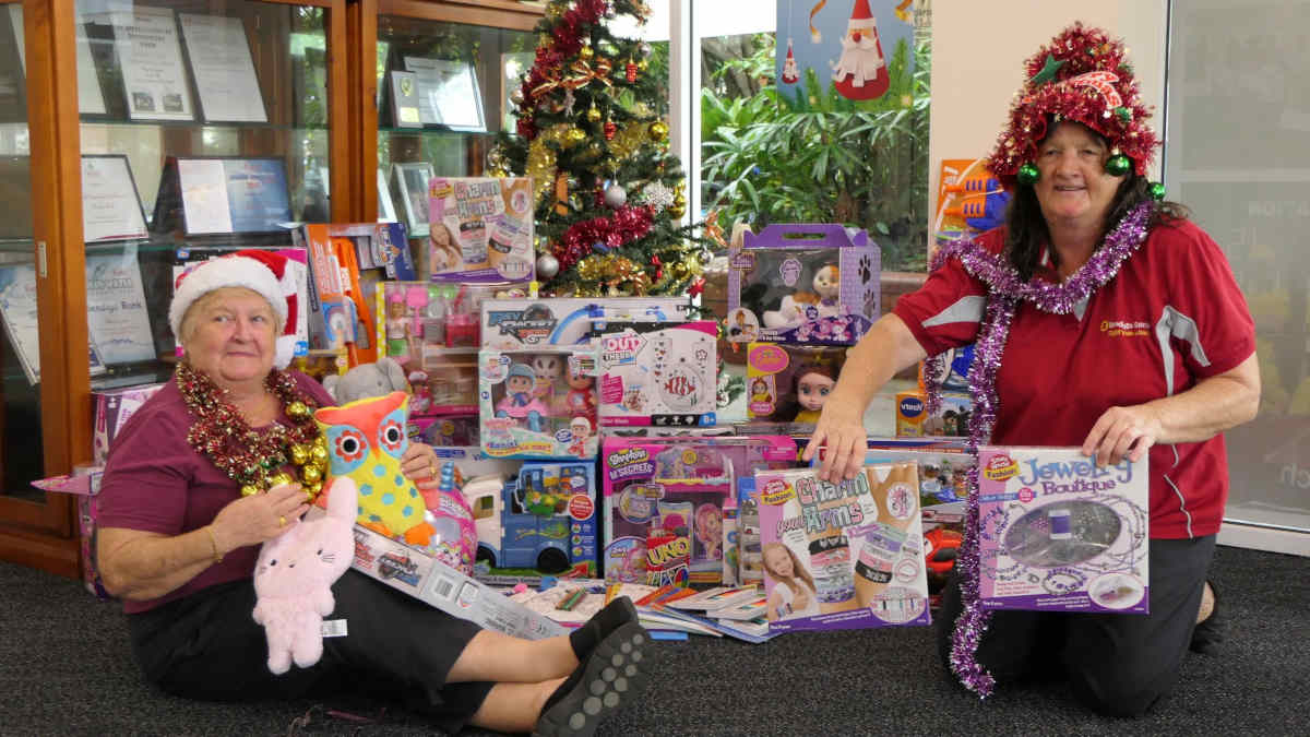 Presents from the community for the childrens wards at RDH